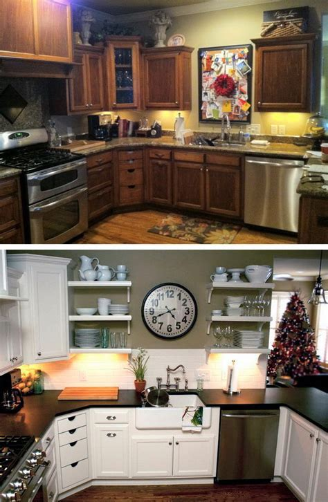 Before and After: 25  Budget Friendly Kitchen Makeover