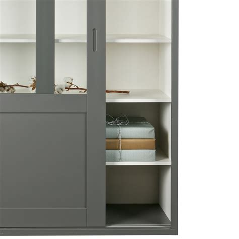 sliding door display cabinet display cabinet with sliding doors in grey cabinets