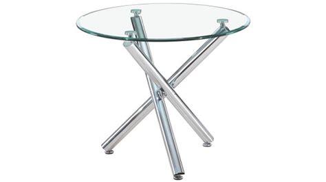plateau en verre pour bureau table ronde à manger en verre trempé alex sur pieds