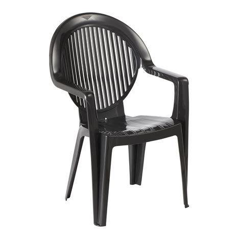 chaise de jardin grosfillex grosfillex fauteuil monobloc fidji 2 anthracite chaise