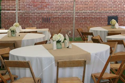banquet setup for 200 people with long and round tables