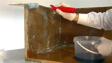 kast maken betonblokken zelf een houten bak waterdicht maken met polyester en