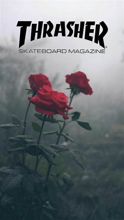 Thrasher Rose Cool Roses Logos Logodix Shapes