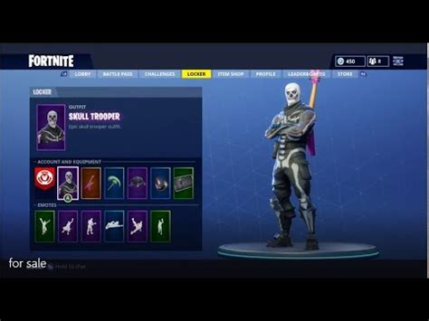 full  selling fortnite account  price skull
