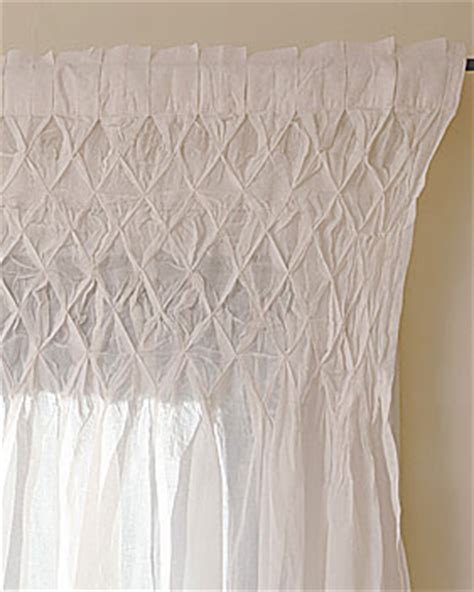 Smocked Curtains Drapes - the shabby nest savings on smocking