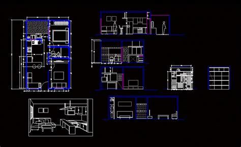 single family house  patio  dwg plan  autocad