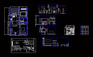 Single Family House With Patio 2d Dwg Plan For Autocad
