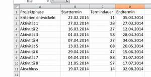 Zeitraum Berechnen Excel : gantt diagramme so planen sie effektiv projekte in excel ~ Themetempest.com Abrechnung