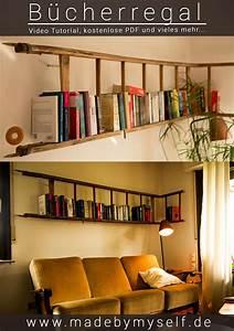 Bücherregal Selber Bauen Kreativ : diy moebel kreative wohnideen baum regal aus holz mit buecher ~ Buech-reservation.com Haus und Dekorationen
