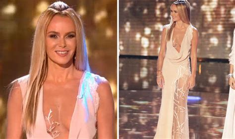 Amanda Holden Shows Off More Flesh In Most Revealing Dress