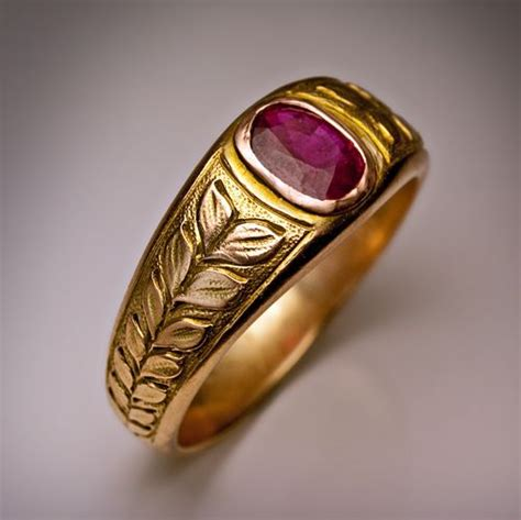 vintage men s ruby ring made in moscow between 1908 and
