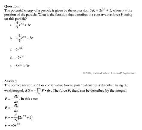 learn ap physics work and energy