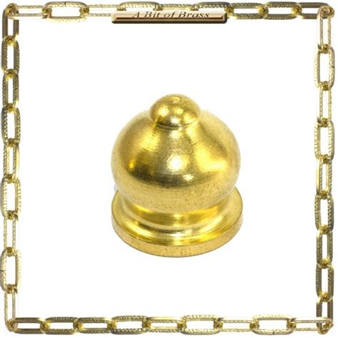 solid brass ornamental finial nut 1 2