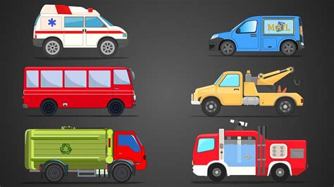 community vehicles learn vehicles name cars and trucks learn transport youtube