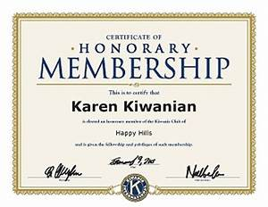Honorary life members for Honorary member certificate template