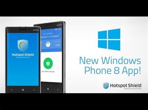 hotspot shield free vpn app available for windows phone 8