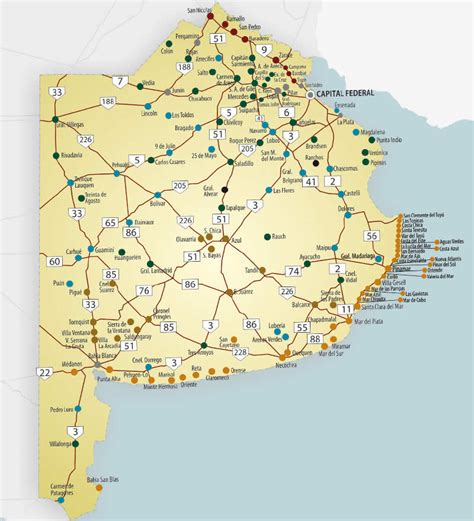 Región Centro De Argentina Mapa De Buenos Aires Mapa Físico Geográfico Político