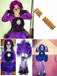 My EVIL PURPLE MINION is ALIVE !!!! .. my daughter's ...