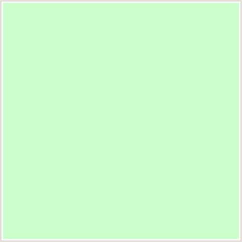 color mint ccffcc hex color rgb 204 255 204 green snowy mint