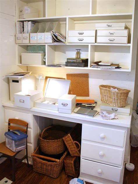 desk organization tips chic organized home office for 100 hgtv 14683