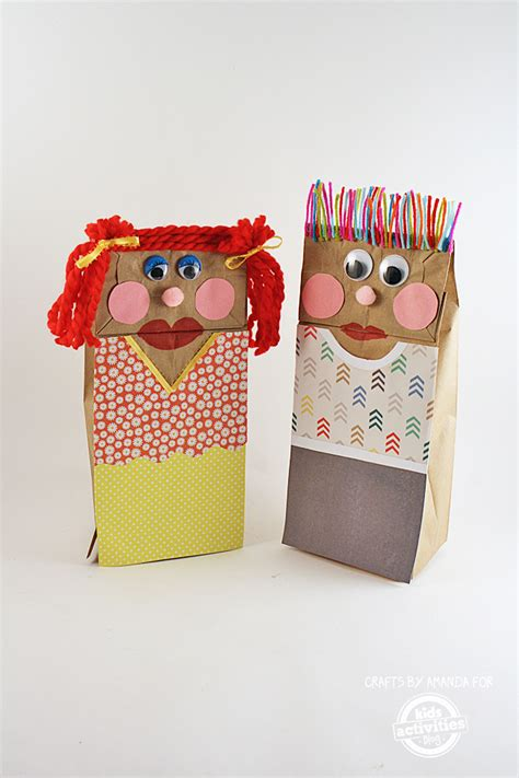 classic craft making paper bag puppets