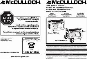 Mcculloch 7096 Fg5733 Users Manual Om  Fg5700a  Fg5700ak