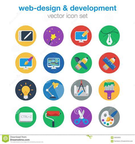 flat web design  development icon set stock vector