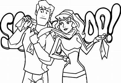 Scooby Doo Coloring Daphne Fred Gang Kolorowanka