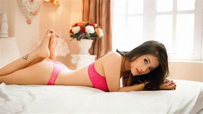 Lying Asians Panties Stomach Bed Soles Barefoot