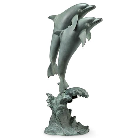 dolphin statues dolphin duet with bluetooth speaker sculpture by spi home 550 you save 209 00
