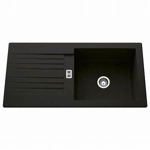 Evier Noir 1 Bac : evier encastrer r sine noir solo 1 grand bac avec ~ Dailycaller-alerts.com Idées de Décoration