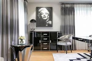 Harbury country house unleashes art deco design laced with for Kitchen cabinets lowes with wall art marilyn monroe