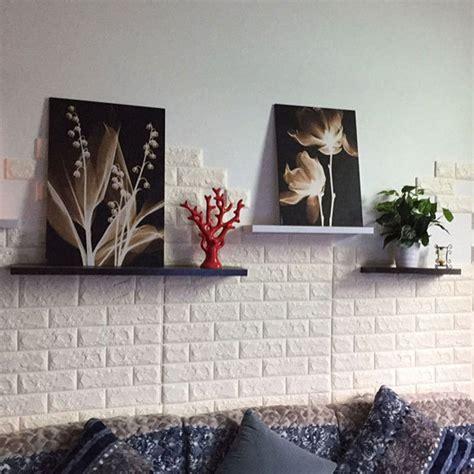 sticker wallpaper dinding  embosed model bata white