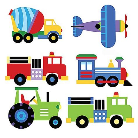 Truck Wallpaper Childrens Decor by Trains Airplanes Trucks Wallpaper Mural Boys Room