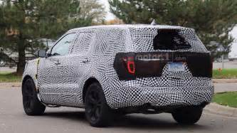 Led Grille Lights by 2019 Ford Explorer Spied Redesign Latest News Specs Price