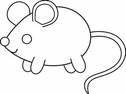 Mouse Coloring Outline Clip Pages Clipart Animal