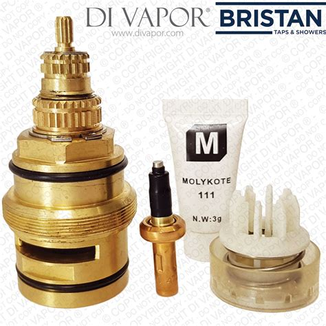 bristan sk971007 thermostatic cartridge with piston and thermostat for valve regency