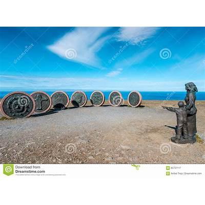 Children Of The Earth MonumentNorth CapeNorway Stock