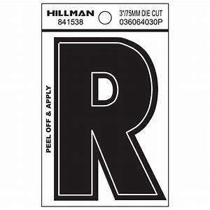 The hillman group 3 in black die cut letters and numbers for Die cut vinyl letters