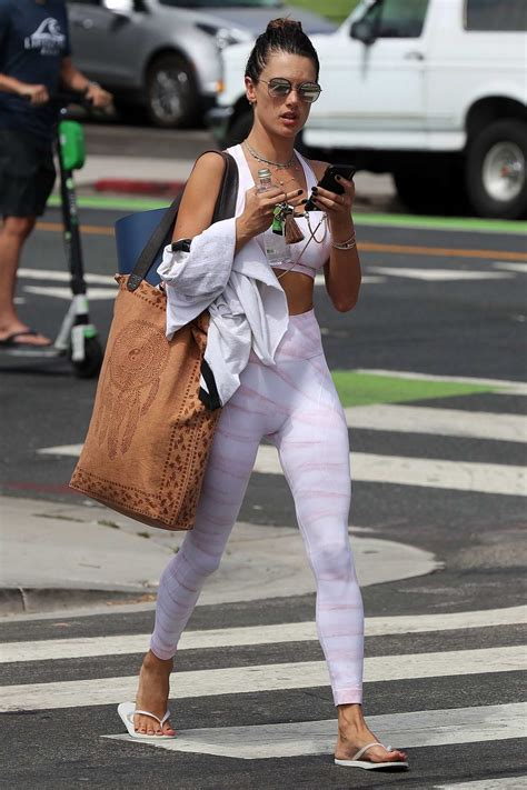 alessandra ambrosio looks amazing in a crop top and ...