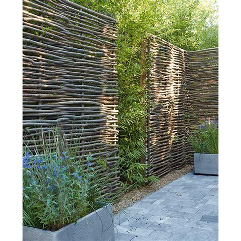 panneau noisetier l 150 x h 180 cm castorama jardin