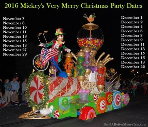 dates released for mickey s very merry christmas party for