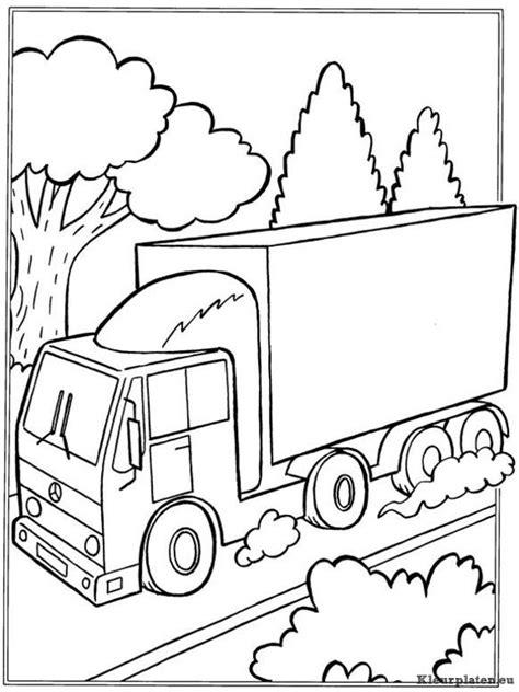Kleurplaat Volvo Vrachtwagen by Vrachtwagens Kleurplaat 067415 Kleurplaat