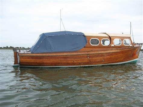 day cruiser wooden motor launch  sale