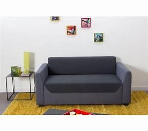 canape 2 places city tissu carbone gris canapes but With tapis enfant avec canape xl