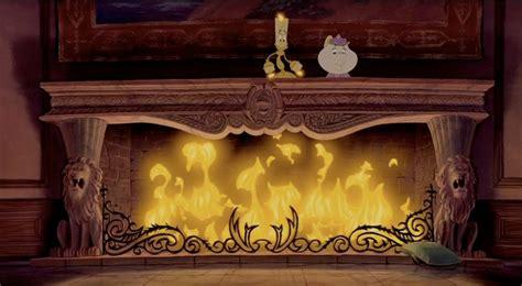 fireplace scenery    beasts castle  beauty