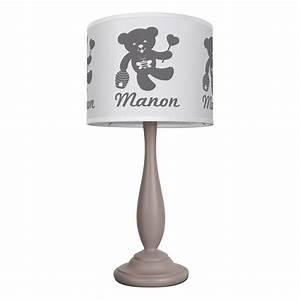Lampe De Chevet Garçon : lampe de chevet toutlight blanc et taupe unique pas cher ~ Dailycaller-alerts.com Idées de Décoration
