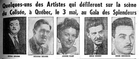 Janine V Ovila Légaré Roland Bédard Jeanine Fluet émile Genest Et