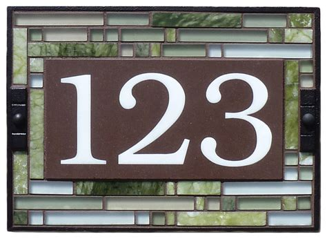 craftsman house numbers green cathedral house number sign craftsman house