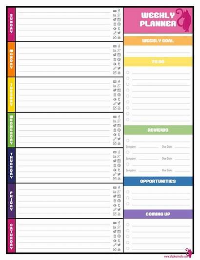 Planner Weekly Printable Calendar Template Printablee